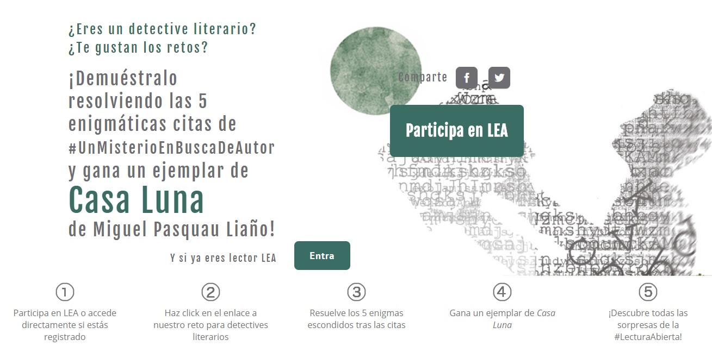 #UnMisterioEnBuscaDeAutor: enigmas literarios en el mar de olivos de Miguel Pasquau